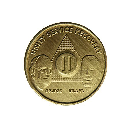 2 Year Bill   Bob Founders Edition Bronze Aa  Alcoholics Anonymous  Birthday   Sober   Sobriety   Anniversary   Recovery   Medallion   Coin   Chip By Generic