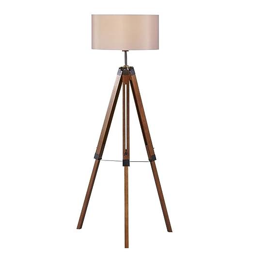 Stehlampe Wohnzimmer Vintage Dunkles Holz Staffelei Stativ Amazon