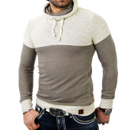 Reslad EM-1121 Huge Collar Strick Pullover Bison