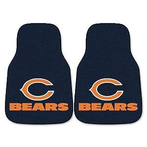 FANMATS NFL Chicago Bears Nylon Face Carpet Car Mat