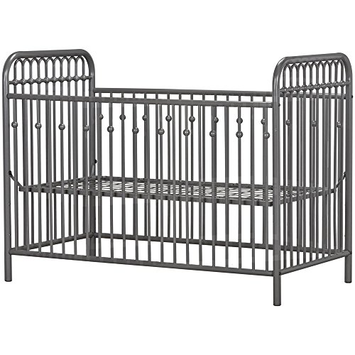 511odN9XPeL - Little Seeds Monarch Hill Ivy Metal Crib, Gray