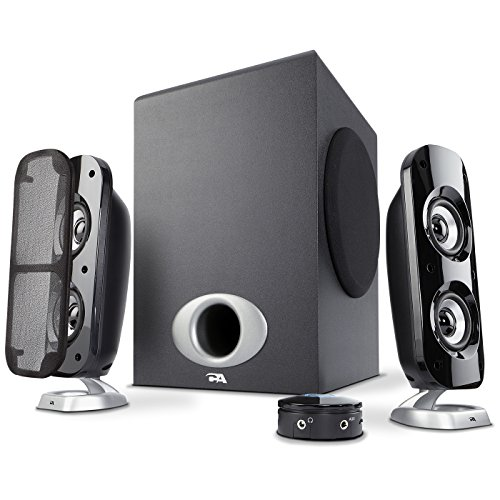 Cyber Acoustics High Power 2.1 Subwoofer Speaker System with 80W of Power – Perfect for Gaming, Movies, Music, and Multimedia Sound Solutions (Multimedia Solution)