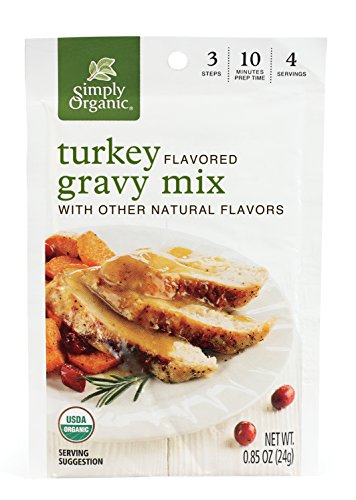 (Simply Organic Turkey Flavored Gravy Mix, Certified Organic, 0.85-Ounce Packet (Pack of 12))