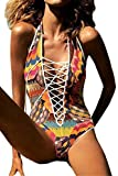 Mainstream Sexy hot Pink Wind Women's Hollow Out Strappy One Piece Monokini Swimsuit Swimwear Charming,S=US(0-2),Multicoloured