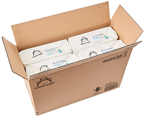 Large Product Image of Amazon Brand - Mama Bear  Diapers Size 2, 184 Count, Bears Print (4 packs of 46)