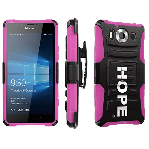 Photo - [SkinGuardz] Case for Microsoft Lumia 950 [Heavy Duty Ultra Armor Tough Case with Holster] - [Hope]