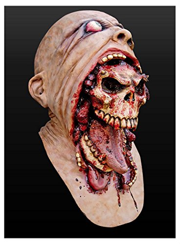 Bloody Zombie Mask Melting Face Adult Latex Costume Walking Dead Halloween Scary from Unknown