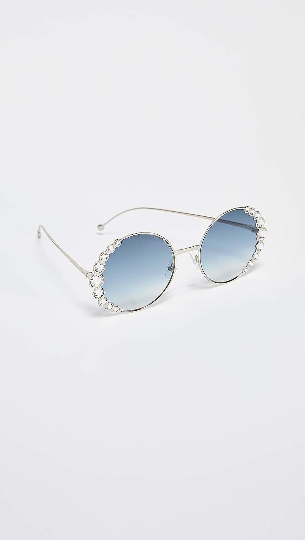 36091fe63278 Fendi FF0324 S 3YG Light Gold FF0324 S Round Sunglasses Lens Category 2  Size 58  Amazon.co.uk  Clothing
