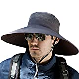 T WILKER Wide Birm Sun Hat for Men Women Hunting Fishing Hats Breathable Boonie Bucket Cap with UPF 50+ Sun Protection