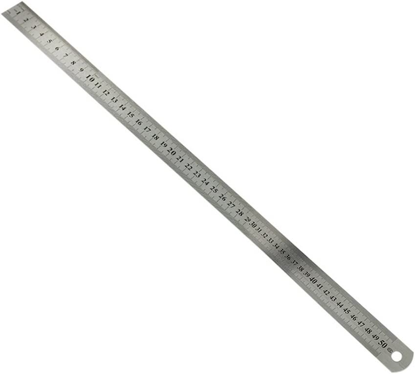 Godagoda Metric Steel Ruler Double-Sided Scale Stainless Steel Ruler 15-101 cm Ruler