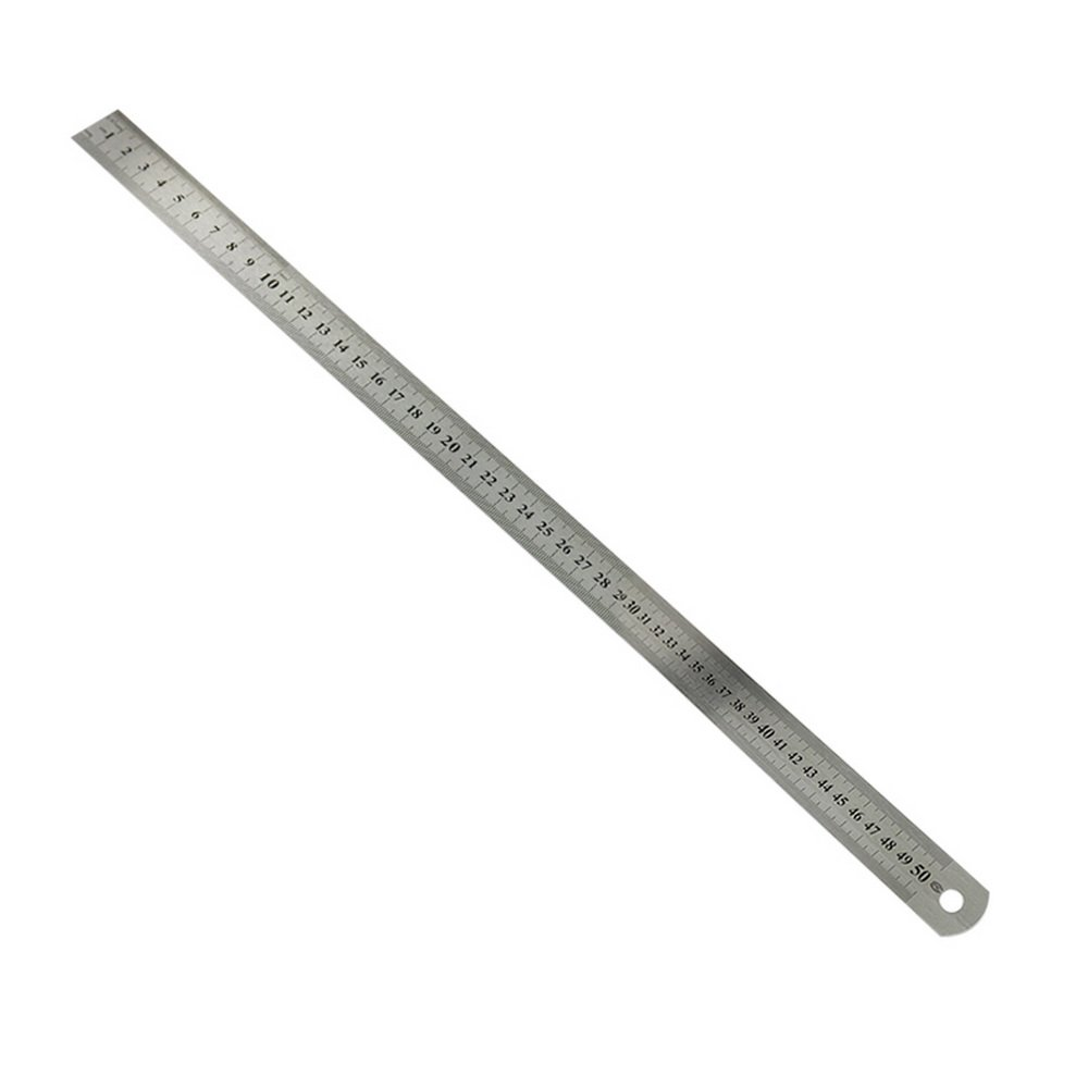 Souarts Metric Steel Ruler Double-Sided Scale Stainless Steel Ruler 15-102 cm Ruler