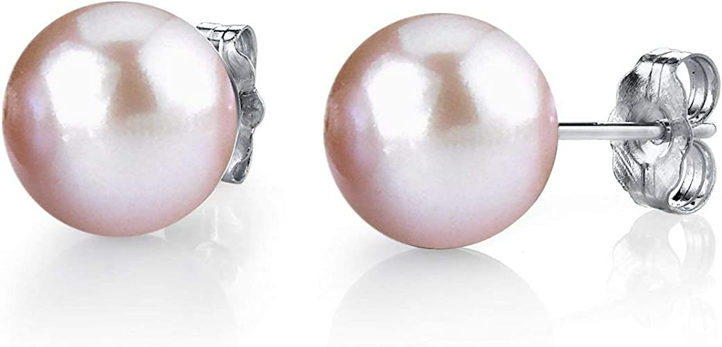 """Pretty 7-8 Mm White Akoya Cultured Pearl Necklace 25/"""""""