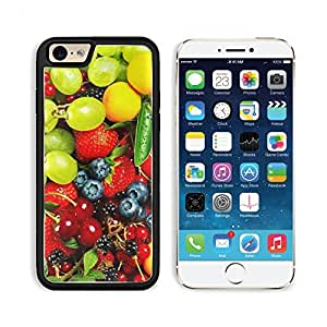 Food Fruit Strawberries Grapes Berries Cherries Apple iPhone 6 TPU Snap Cover Premium Aluminium Design Back Plate Case Customized Made to Order Support Ready Liil iPhone_6 Professional Case Touch Accessories Graphic Covers Designed Model Sleeve HD Template Wallpaper Photo Jacket Wifi Luxury Protector Wireless Cellphone Cell Phone