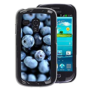 A-type Arte & diseño plástico duro Fundas Cover Cubre Hard Case Cover para Samsung Galaxy S3 MINI 8190 (NOT S3) (Blueberries Fresh Vitamins Healthy Forest)