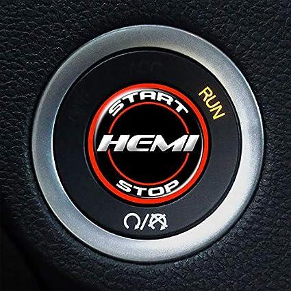 Challenger Keyless Go Starter Push Start Button Emblem Decal R//T Start Stop Blk