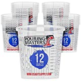 Pouring Masters 12 Ounce (350ml) Graduated Plastic