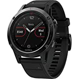 Garmin Fenix 5 Sapphire GPS Watch Black With Black Band, One Size
