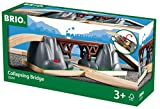 BRIO World - 33391 Collapsing Bridge   3 Piece Toy Train Accessory for Kids Age 3 and Up