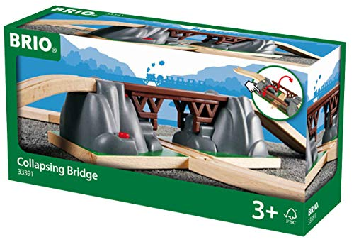BRIO World - 33391 Collapsing Bridge | 3 Piece Toy Train Accessory for Kids Age 3 and Up ()