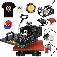 "Heat Transfer Machine-Nurxiovo 5 in 1 Swing-Away Digital Transfer Sublimation T-Shirt Hot Pressing Machine-Multipurpose Mug/Hat Plate/Cap Press,12x15"" Combo Kit"
