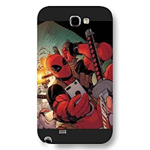 UniqueBox Customized Marvel Series Case for Samsung Galaxy Note 2, Marvel Comic Hero Deadpool Samsung Galaxy Note 2 Case, Only Fit for Samsung Galaxy Note 2 (Black Frosted Case) WANGJING JINDA