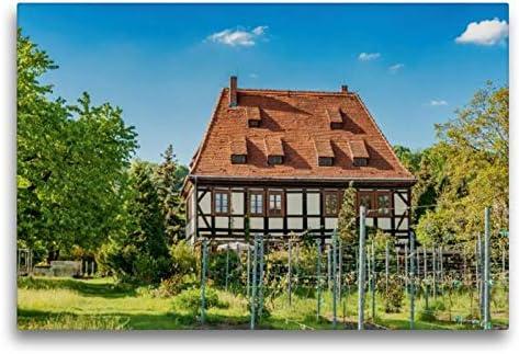 Premium Tessile Della Tela 45Cm X 30Cm Croce Casa Breitig, Radebeul, 75X50 Cm