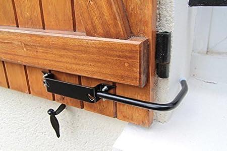 Bloque Volet Noir Grand Modele 2 Arret De Volet Avec Poignee Pour Ouvrir Et Fermer Facilement