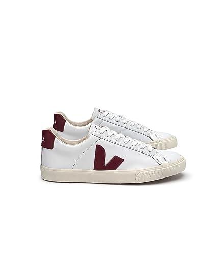 2167667e33d4b VEJA - Trainers - Men - Esplar White Leather Burgundy Contrast ...