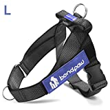 Bondpaw Dog No Pull Harness with D Ring in Front, Large, Black