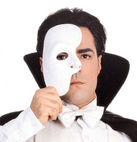 Popcandy Rubie's Costume Co Men's Phantom Of The Opera Mask (Light Up Phantom Costume)