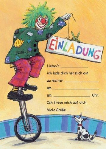 Schön Zirkus Clown Einladungen Geburtstag Kindergeburtstags Einladungen 12er Set:  Amazon.de: Bürobedarf U0026 Schreibwaren