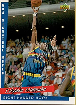 d4d435c3c Amazon.com  1993-94 Upper Deck  246 Dikembe Mutombo SM AUTO Nuggets ...