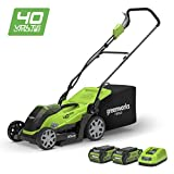 Greenworks 40V Cordless Lawn Mower 35cm (14') with 2x 2Ah batteries and chager - 2501907UC