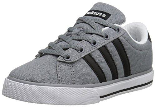 adidas NEO SE Daily Vulc K Kids Casual Footwear (Little Kid/Big Kid),Grey/Black/White,11.5 M US Little Kid