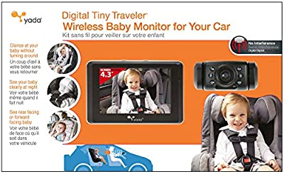 "Yada (BT53901F-2) Tiny Traveler Matte Black 4.3"" Digital Wireless Baby Monitor"