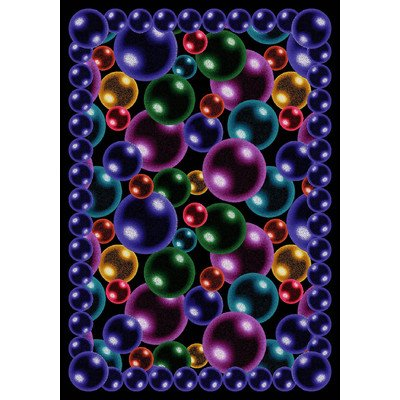 Joy Carpets Bubbles (Joy Carpets Kaleidoscope Bubbles Whimsical Area Rugs, 64-Inch by 92-Inch by 0.36-Inch, Rainbow)