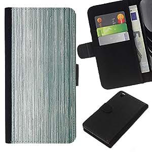 KLONGSHOP // Tirón de la caja Cartera de cuero con ranuras para tarjetas - La textura del metal Madera Gris Aluminio - HTC DESIRE 816 //