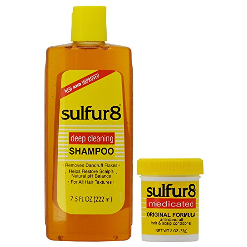 - Sulfur8 Anti-Dandruff Hair & Scalp Care Shampoo 7.5oz + Conditioner 2oz Duo