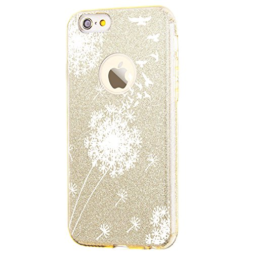 Price comparison product image vanki iPhone 7 Case Thin TPU 3 Layer Hybrid PC Glitter Shock Protective Cover(Gold)