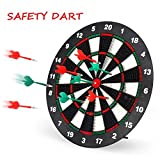 Geekper Safety Dart Board Set for Kids - 16 Inch Rubber Dart Board