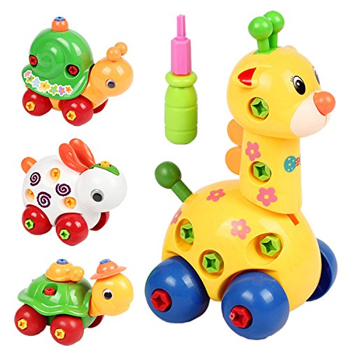 Kids Animal Puzzle Educational Toys Children Disassembly Assembly Cartoon Giraffe Snail Tortoise Rabbit Puzzle - - Sale For Nz Tortoise