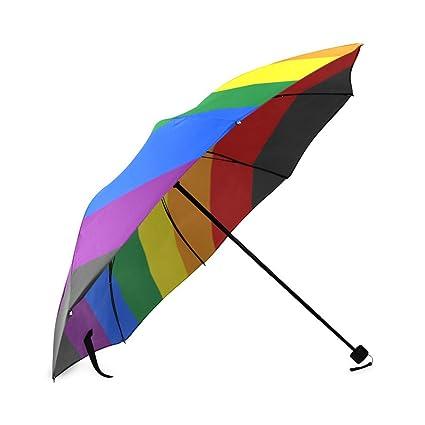 Amazon.com: Custom Foldable Umbrella Gay Pride Bandera del ...