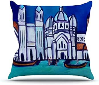 Kess InHouse Theresa Giolzetti Venice Outdoor Throw Pillow, 16 by 16-Inch