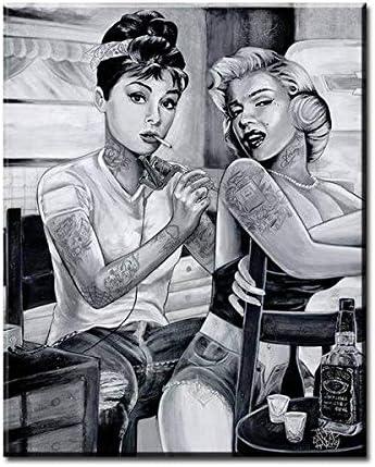unbrand Hollywood Estrella de Cine Mujer impresión Lienzo Marilyn ...