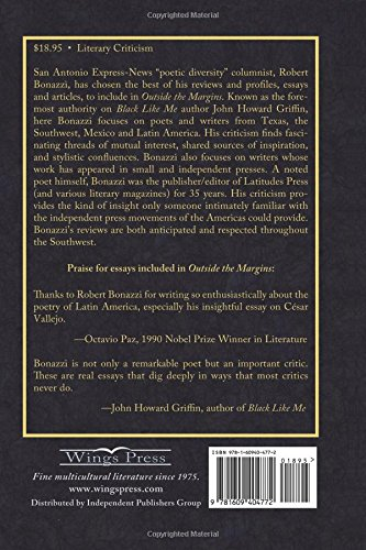 com outside the margins literary commentaries  com outside the margins literary commentaries 9781609404772 robert bonazzi books