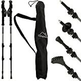 CampTeck Pair of Telescopic Anti-Shock Carbon Nordic Trekking Hiking Poles with Carry Bag & 2 Year Warranty
