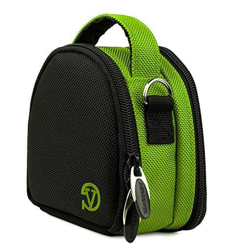 Ludwig Nylon Carrying Padded Case [Lime Green] For SJCAM SJ5000 Series (SJ5000 SJ5000 Wifi SJ5000+ SJ5000X Elite M20)