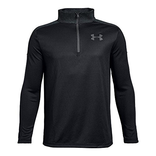 (Under Armour Boys Tech 1/2 Zip, Black (001)/Graphite, Youth X-Large)