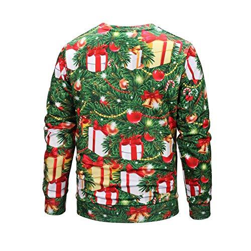 Serie A A1638 Camicia Stampa Maniche Digitale Larga Tcly Di Unisex Inverno Girocollo fby Maglione Lunghe E Natale 3d Autunno ZwOR4z