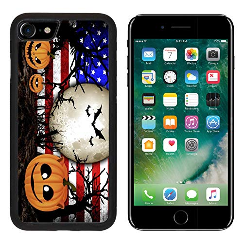 Liili Premium Apple iPhone 8 Aluminum Backplate Bumper Snap Case Halloween Festival and USA Flag Background Image ID 31510480 -